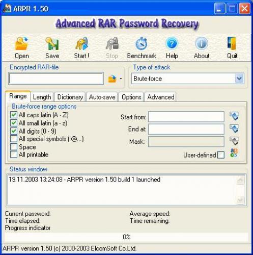 Advanced Rar Password 1.53 Advanced RAR Password (ARP) - программа для