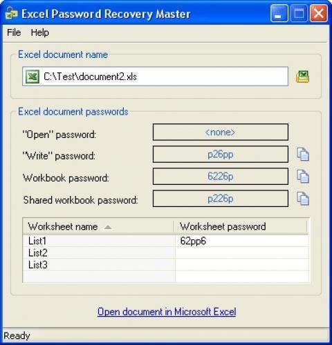Восстановить пароль Excel, восстановить пароль Microsoft Excel.