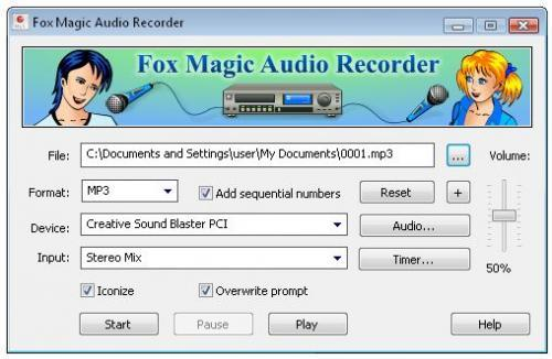 Fox magic audio recorder free download.