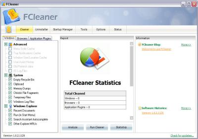 Download FCleaner 1.2.7.1127